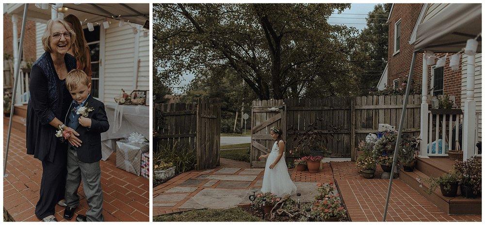 backyard wedding details