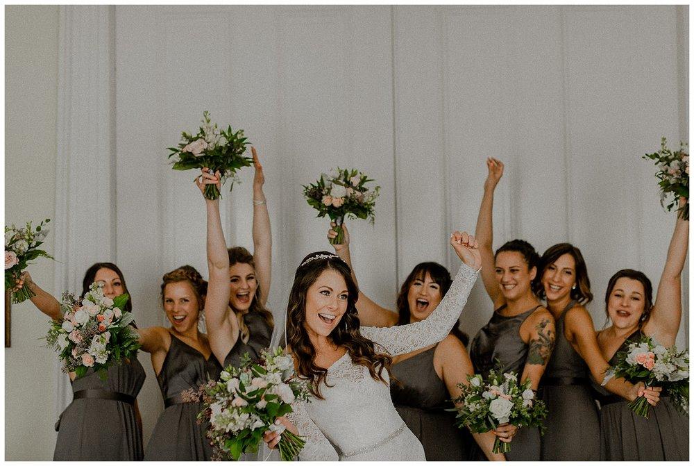modern bridesmaids