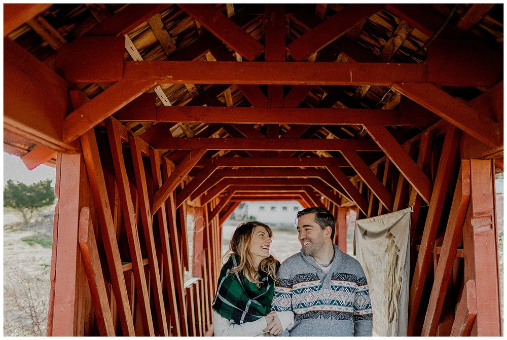 christmas engagement session