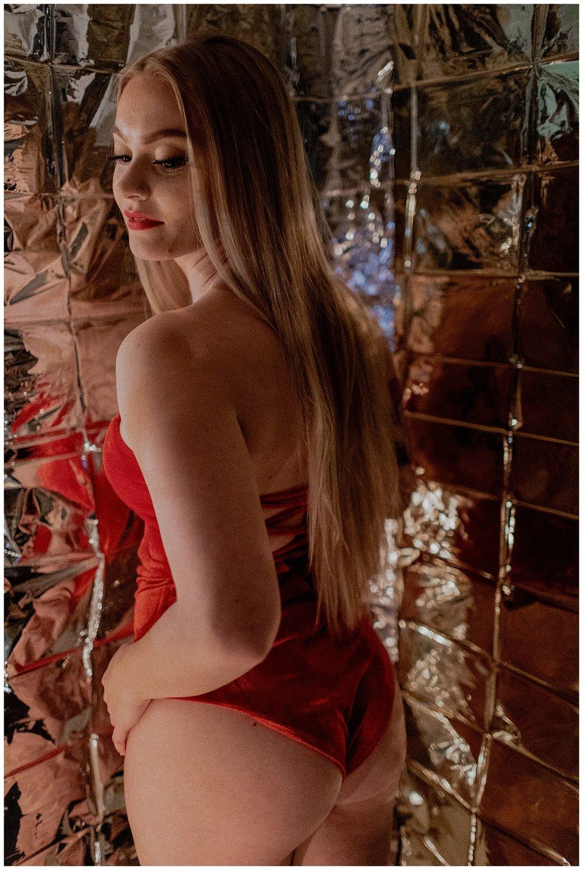 christmas boudoir session