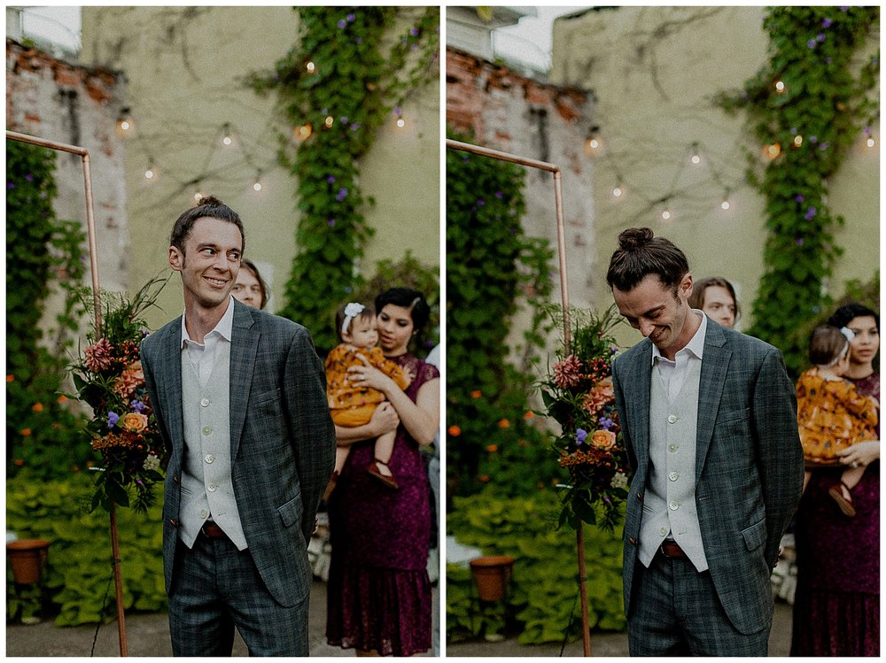 grooms first reaction