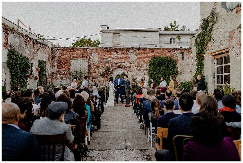 a bohemian wedding ceremony