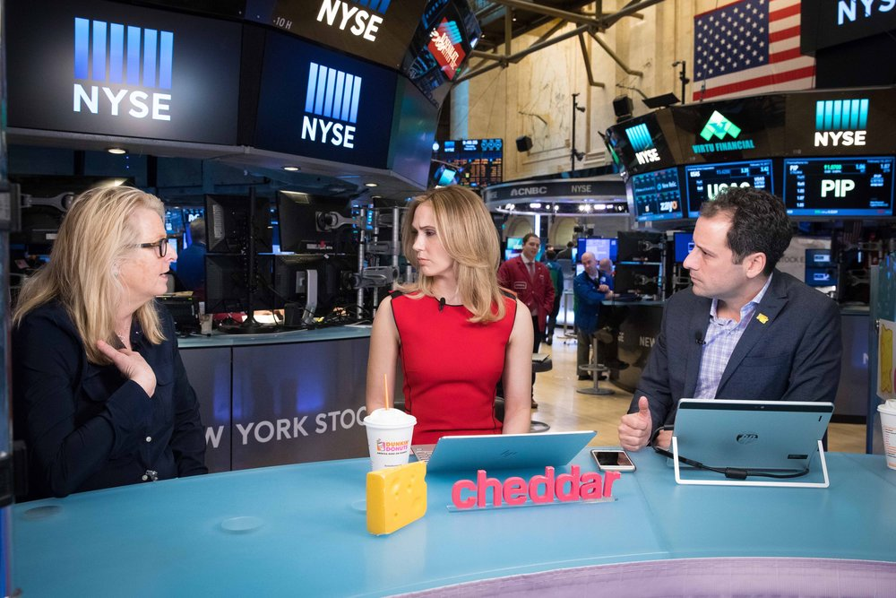 Jon Steinberg and Kristen Scholer @cheddartv interview producer Lise Zumwalt. See the interview:  https://cheddar.vhx.tv/videos/cheddar-cheddar-live-s13-e021617-d-full-mezz-hd-en-us
