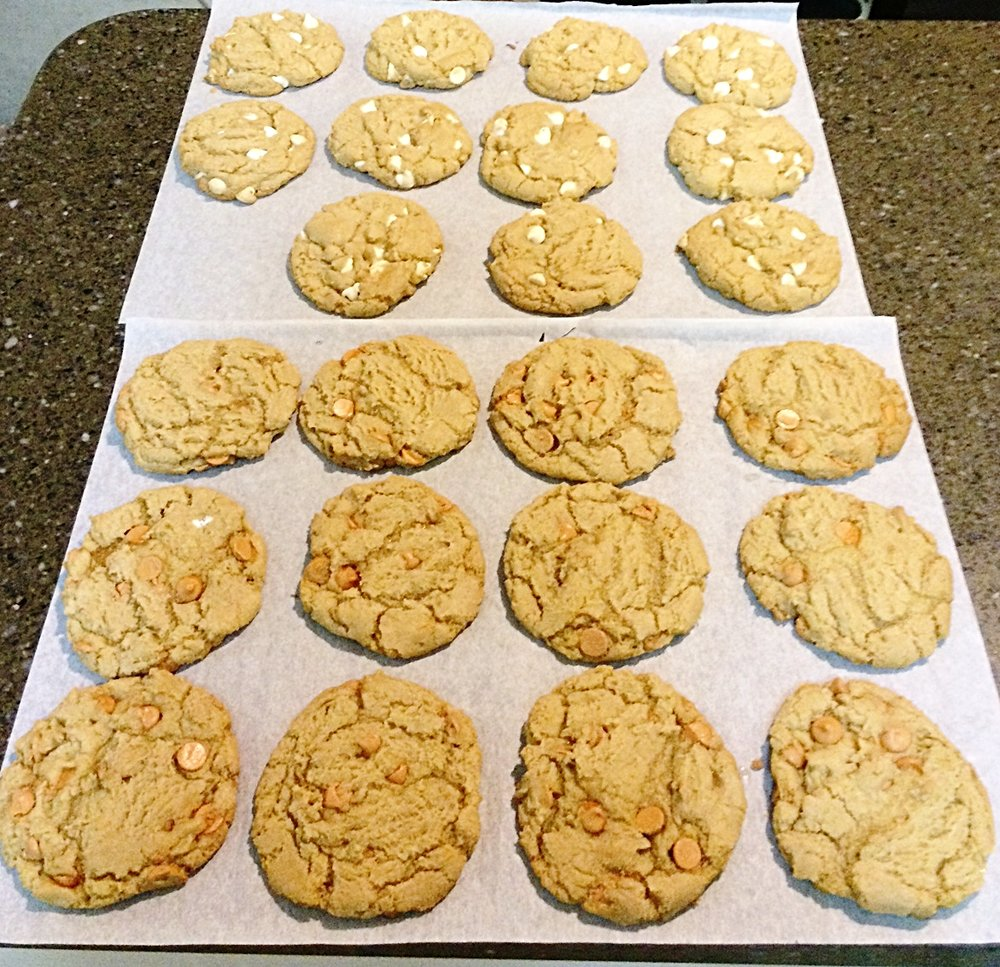 Butterscotch & White Chocolate Chip Cookies