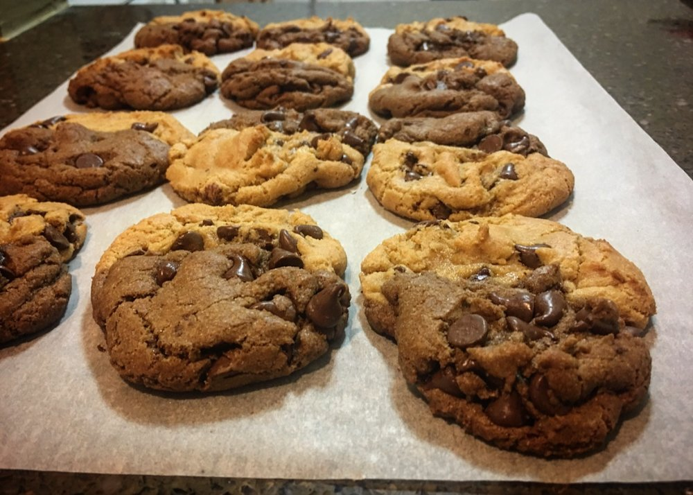1/2 & 1/2 Chocolate Chip & Double Dark Chocolate Chip