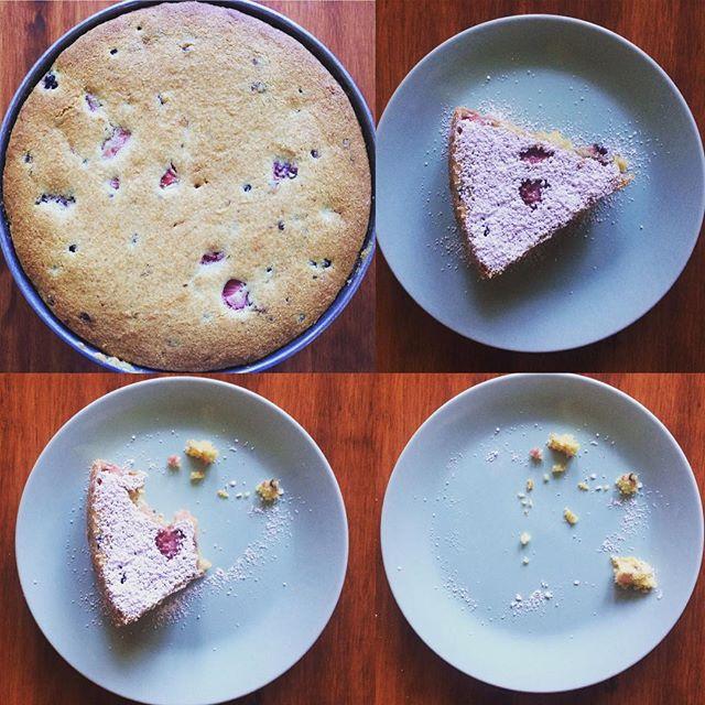 Mixed berry cornmeal cake = ya.