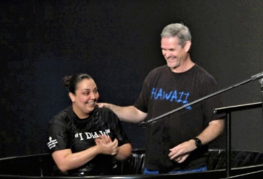 """BAPTISM - """"For we died and were buried with Christ by baptism.And just as Christ was raised from the dead by the glorious power of the Father.Now we also may live new lives.""""Romans 6:4"""