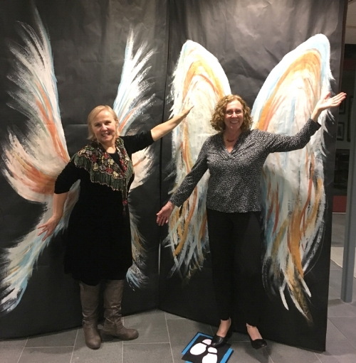 Betsy and I took a moment to be Angels Among Us.