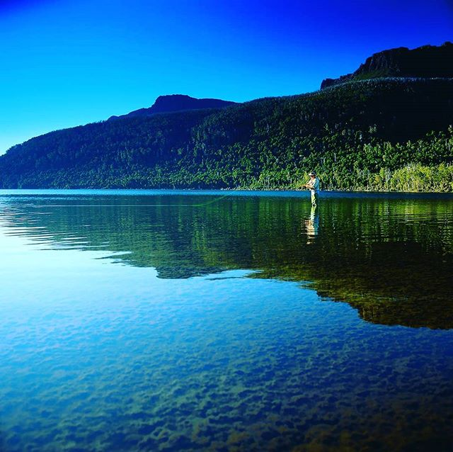 Take a rod and drop a line in the a freshwater Tasmanian lake 😊
