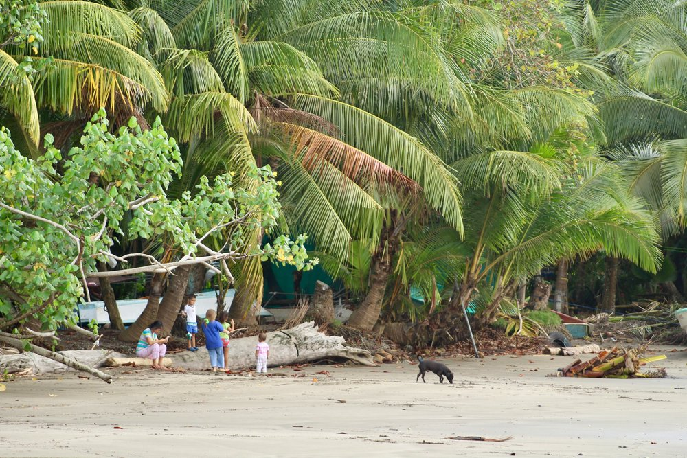 Local Kids on Beach Costa Rica