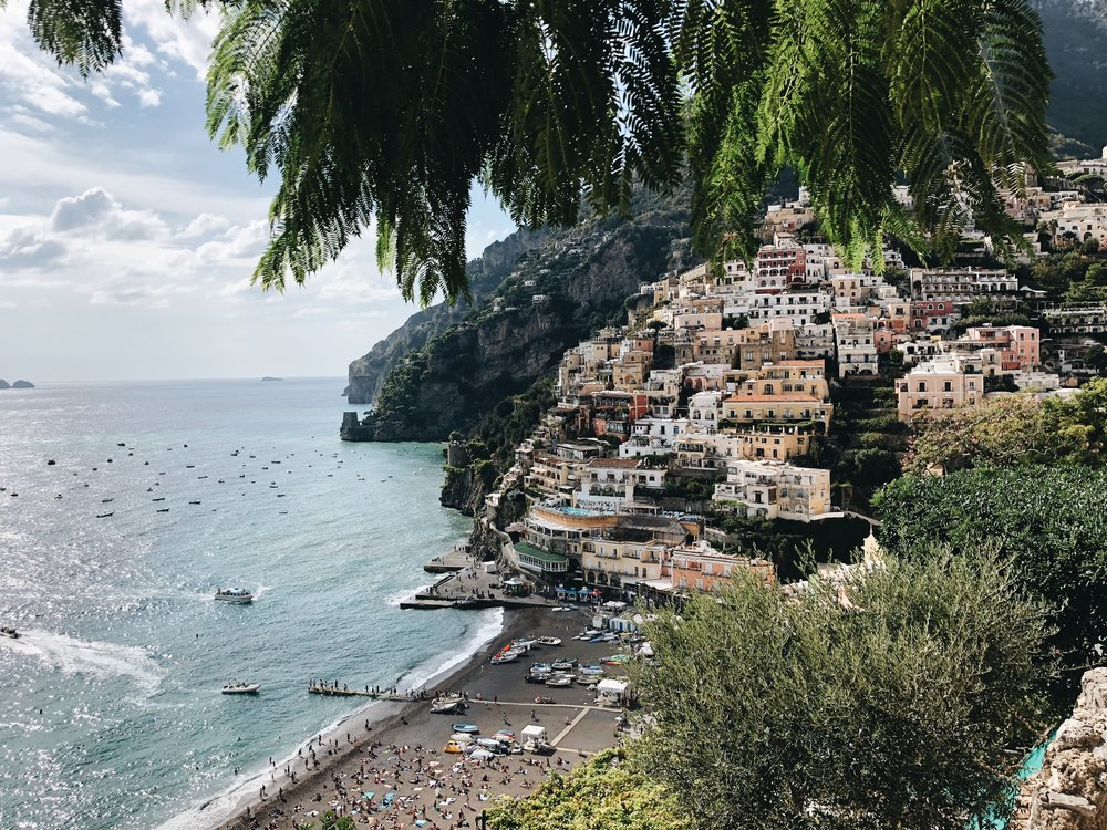 Positano Amalfi Coast Italy With Love From Her Heart