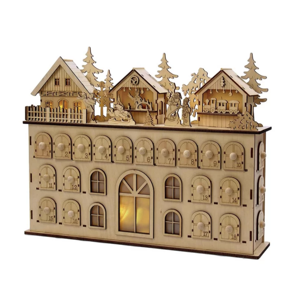 Modern, Wood Advent Calendar