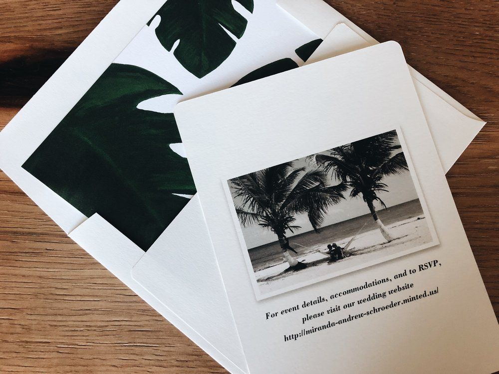 Palm Wedding Invitations | Tropical Wedding Stationary