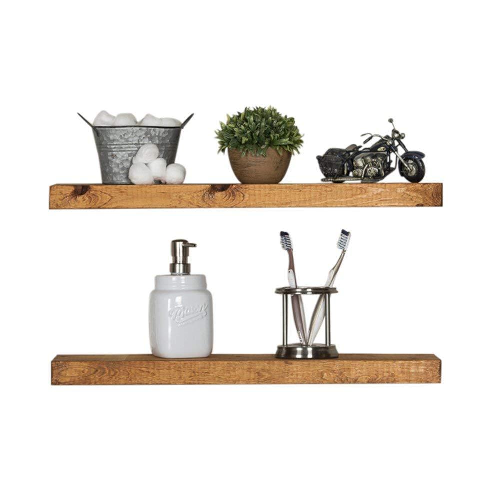 Pine Bathroom Floating Shelves