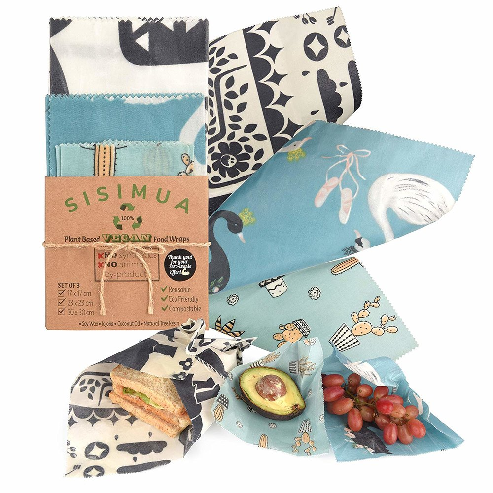 Zero Waste, Sustainable, Eco Friendly Food Storage, Sisimua Vegan Reusable Food Wrap NO Beeswax Plant Based Was Wraps for Food Storage | Miranda Schroeder Blog