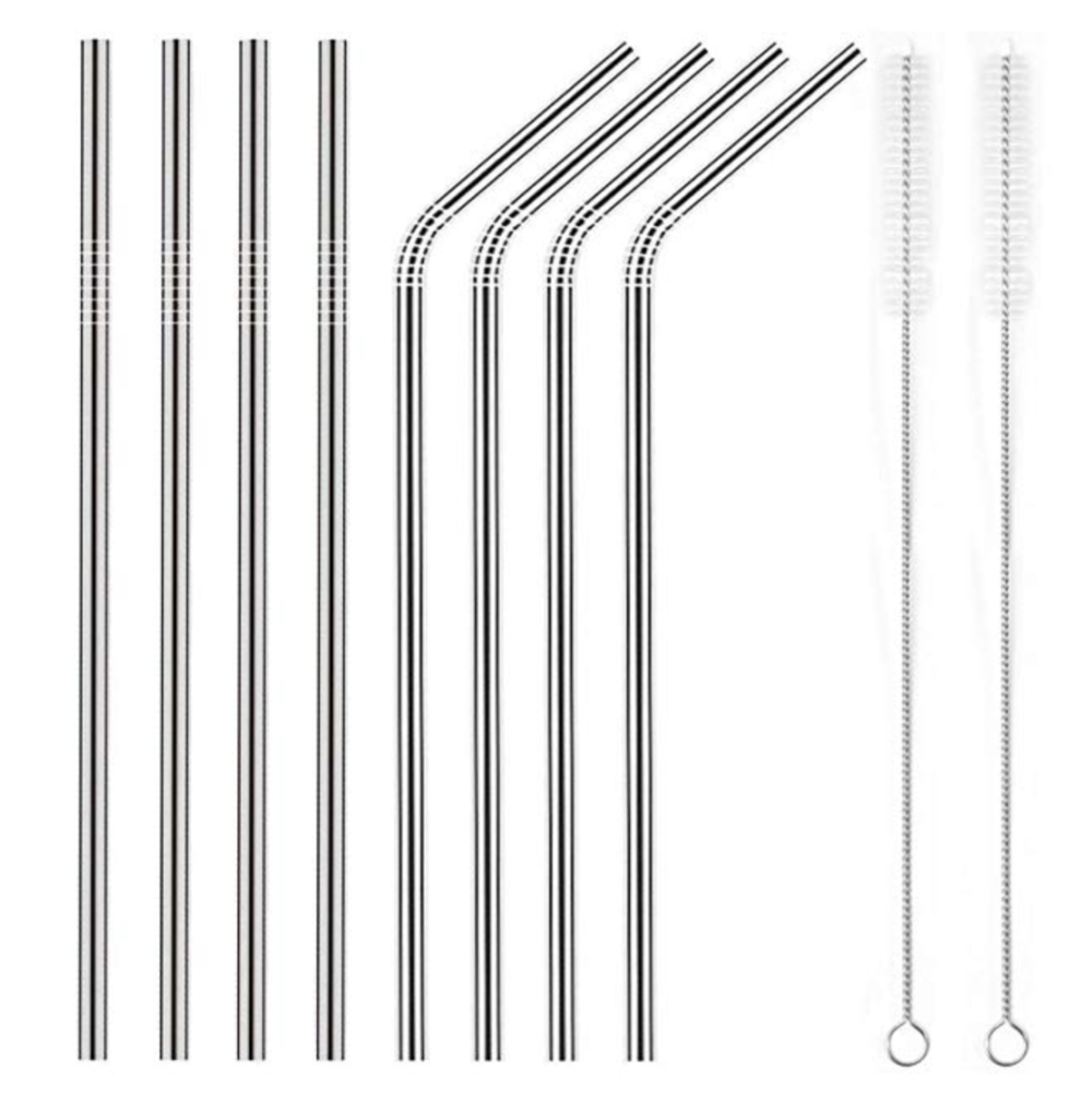 Zero Waste, Sustainability, Eco Friendly, Stainless Steel Reusable Straws with Cleaner Brush | Miranda Schroeder Blog