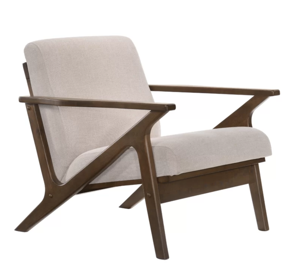 Modern, Rustic and Industrial Accent Chairs | Mid Mod, Midcentury Modern Arm Chair | George Oliver Borchardt Arm Chair | Weekly roundup from the Miranda Schroeder Blog
