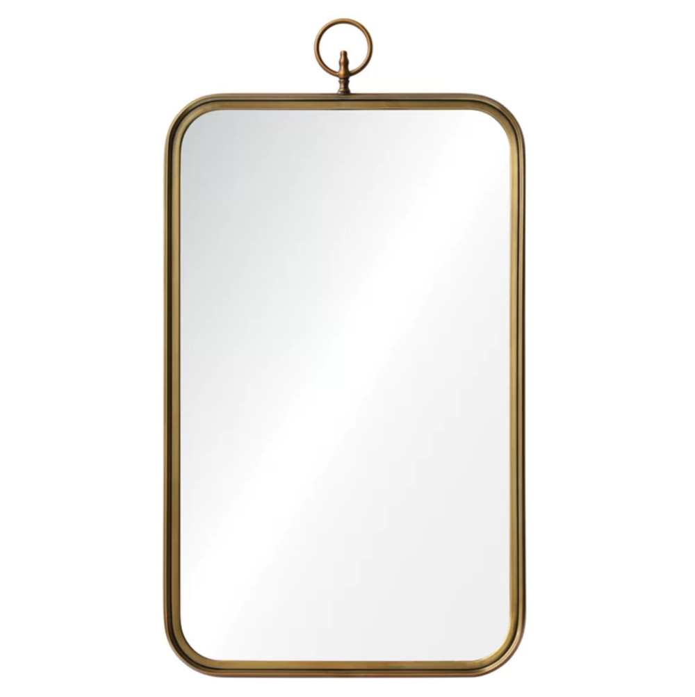 Candler Brass Rectangle Rounded Corners Accent Mirror | Shop Miranda Schroeder Blog