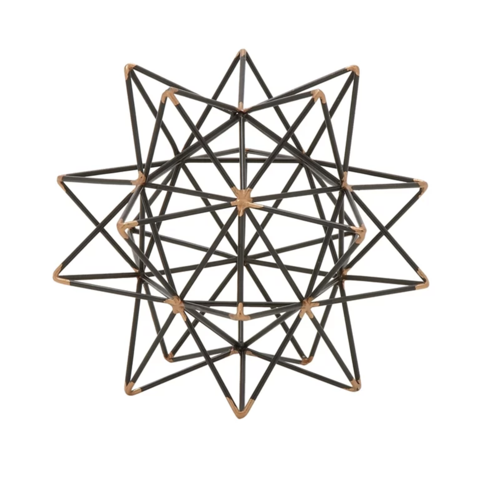 Wire Star Black:Gold Iron Sculpture | Shop Miranda Schroeder Blog