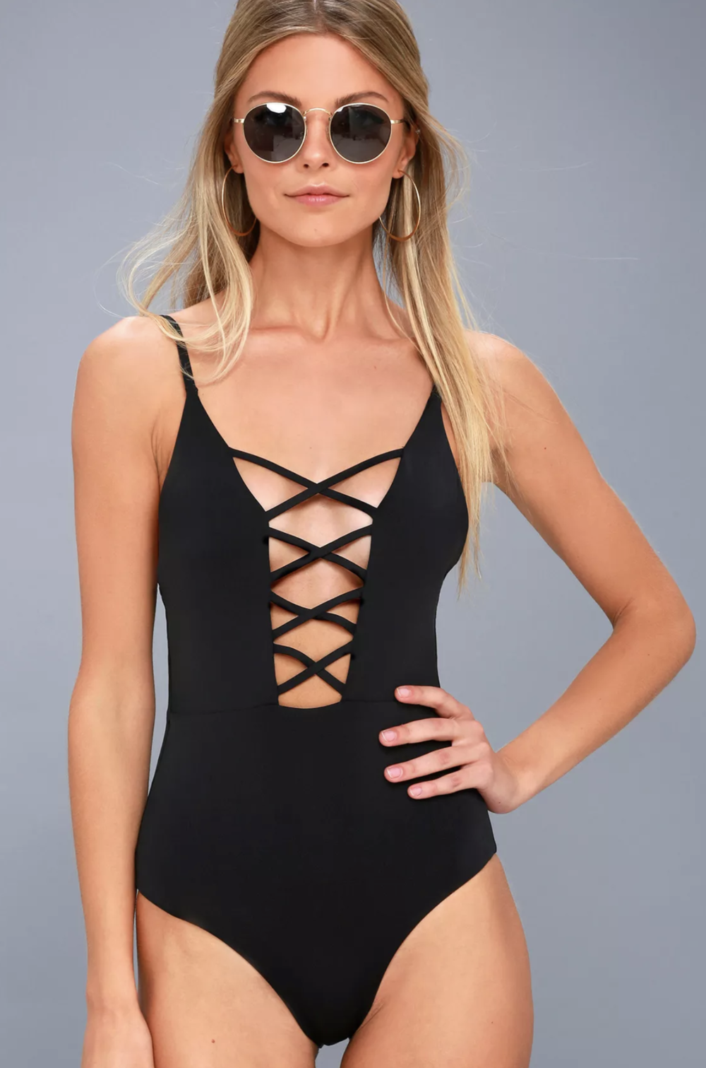 Enjoy the shore in the Lulus Myrtle Beach Black Lace-Up One Piece Swimsuit! Adjustable spaghetti straps top a sleek knit, lace-up bodice and cheeky bottoms. PLEASE NOTE: Swimwear returned without the hygienic liner is non-refundable.