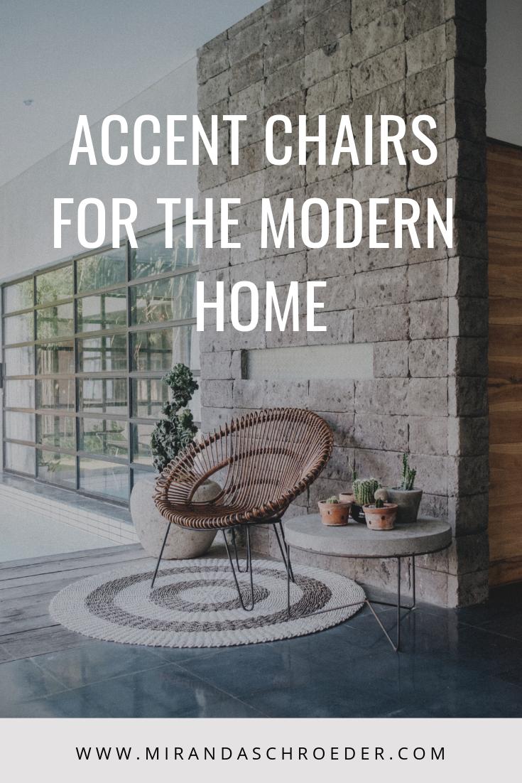 Modern Industrial Rustic Accent Chair Roundup | Miranda Schroeder Blog
