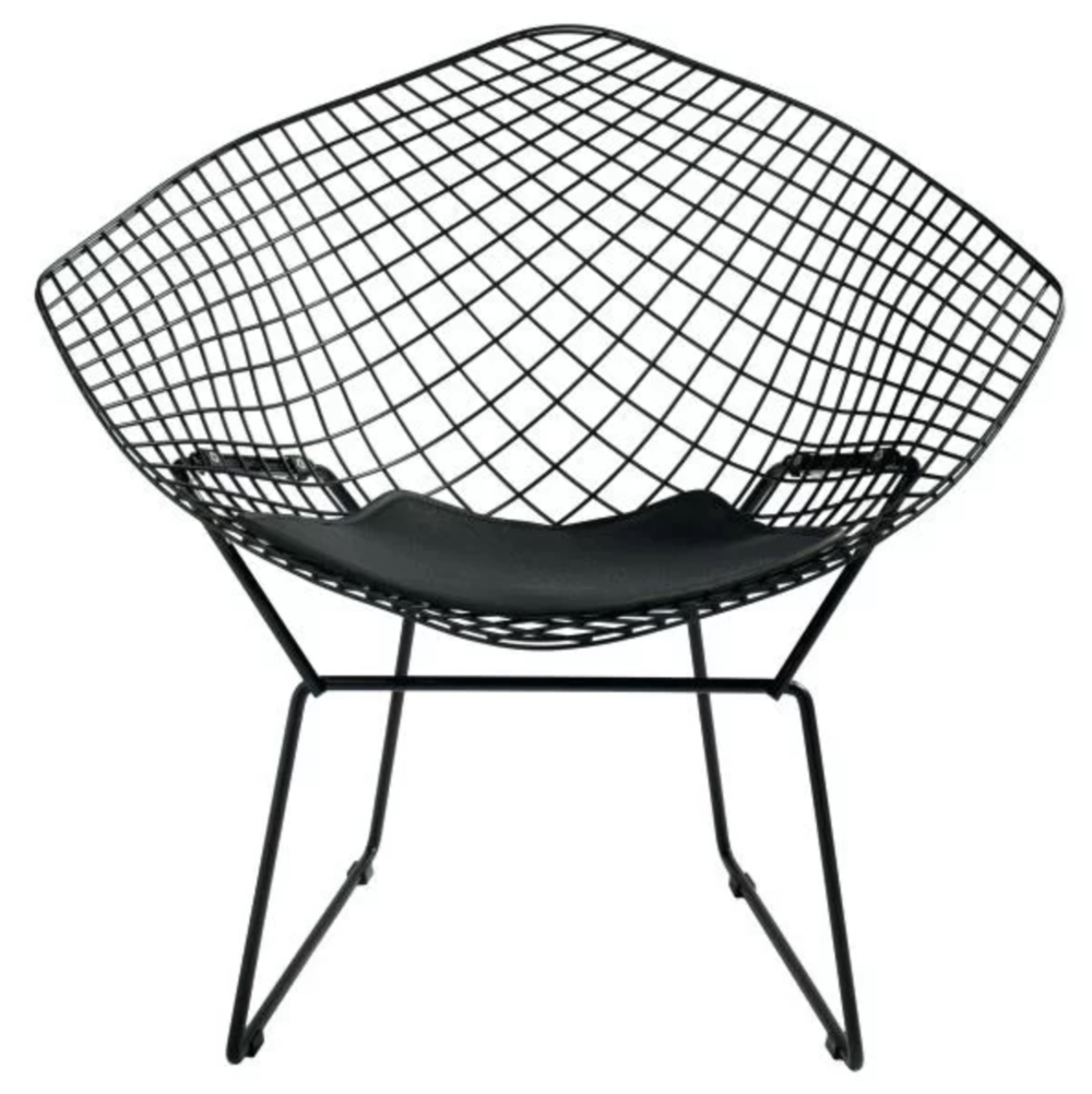 Black Metal Wire Onion Creek Papasan Chair Accent Chair Roundup | Modern, Industrial, Rustic, Beach, Boho Accent and Arm Chairs | Miranda Schroeder Blog