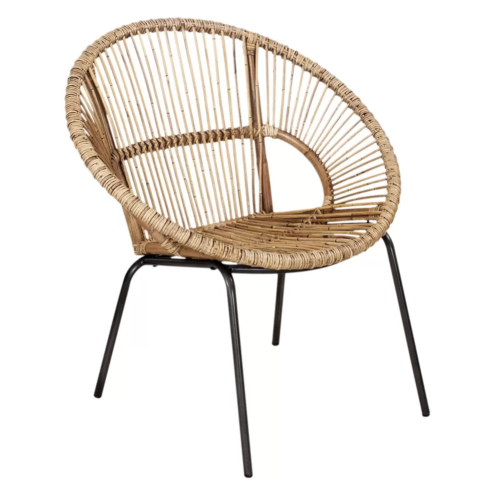 Beachy Boho Papasan Chair Accent Chair Roundup | Modern, Industrial, Rustic, Beach, Boho Accent and Arm Chairs | Miranda Schroeder Blog