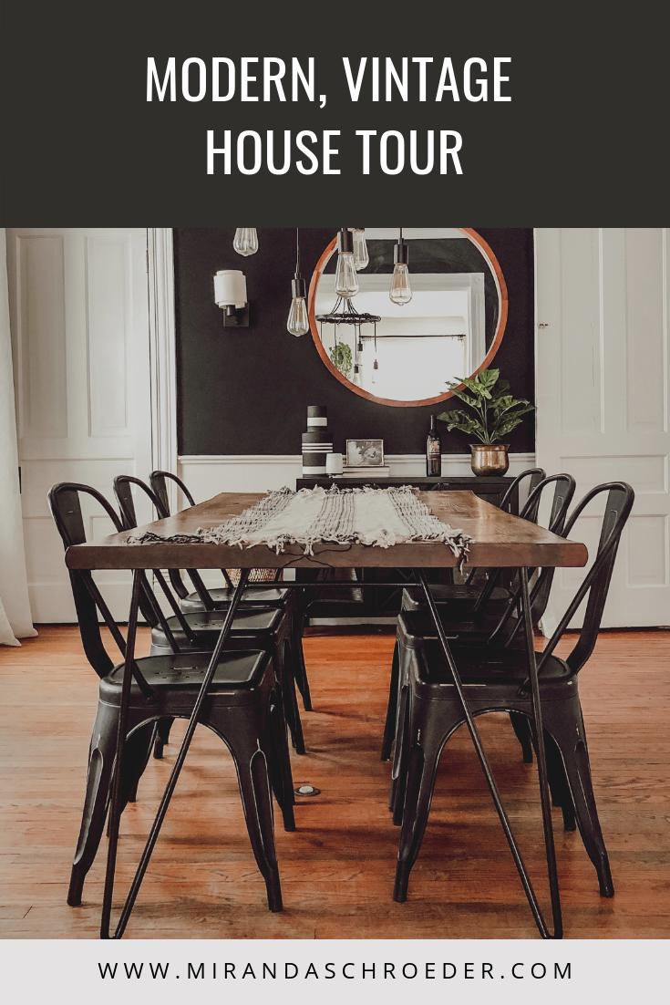 Modern, Rustic, Vintage House Tour | Mid Mod, Midcentury Modern | Miranda Schroeder Blog