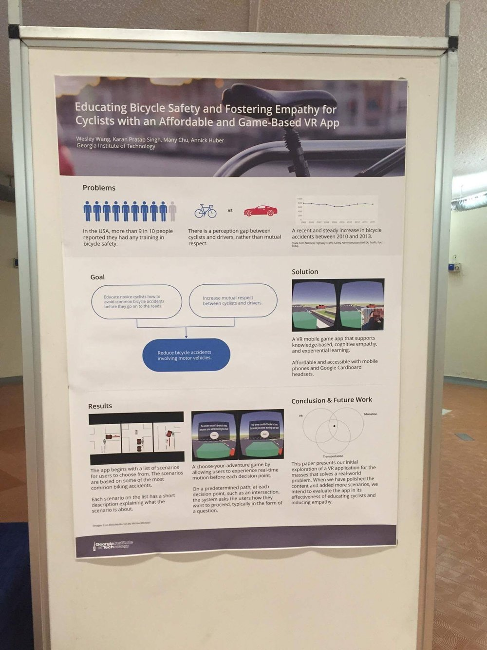 Our poster at the presentation room