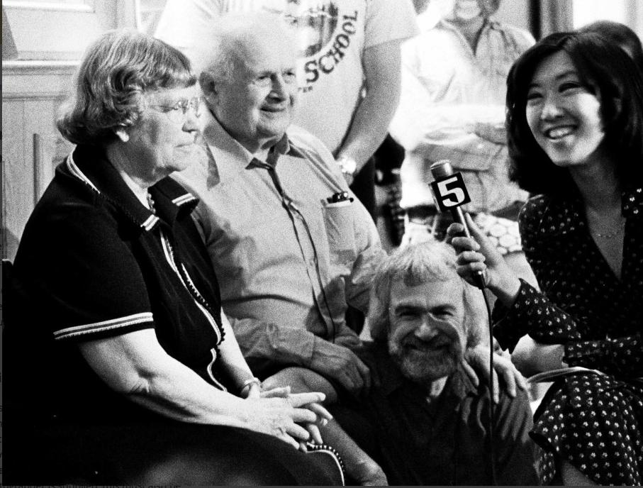 Margaret Mead, (World Renowned Anthropologist), Moshe Feldenkrais, Karl Pribram (Renowned Neurophysiologist) and interviewer, Feldenkrais Training Program San Francisco