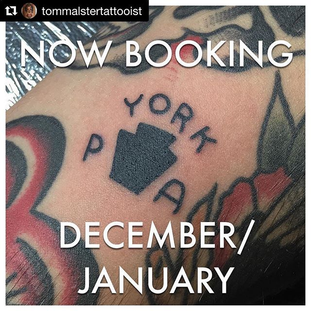 We're very excited to have @tommalstertattooist joining the team at White Rose. Contact him personally, or the shop to book an appointment! ・・・ #Repost @tommalstertattooist  Only a few spots left in Florida, get at me if you want an appointment before I leave on December 12th also now booking for York Pennsylvania where I will now call Home @whiterosetattooparlour #yorkpa