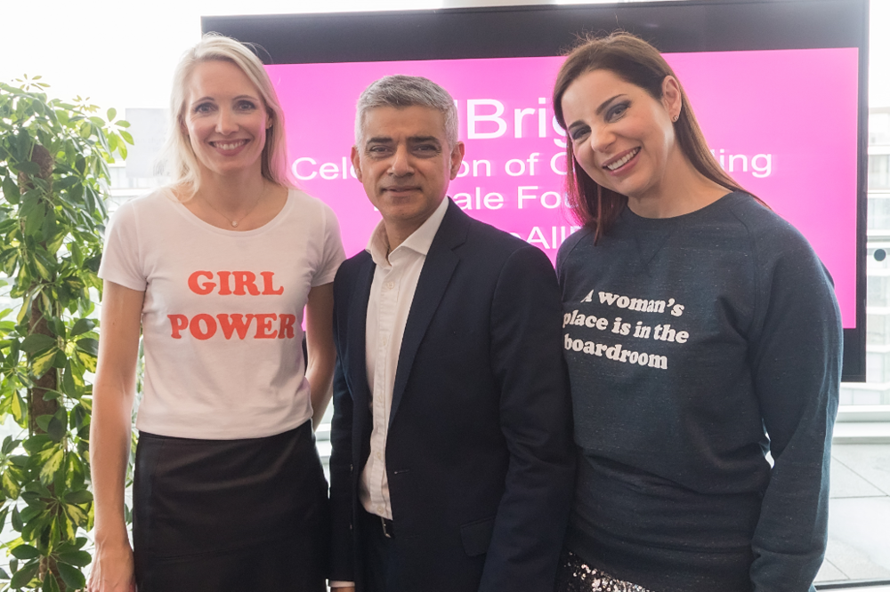 Allbright  Founders Anna-Jones and Debbie-Wosskow with Sadiq Khan