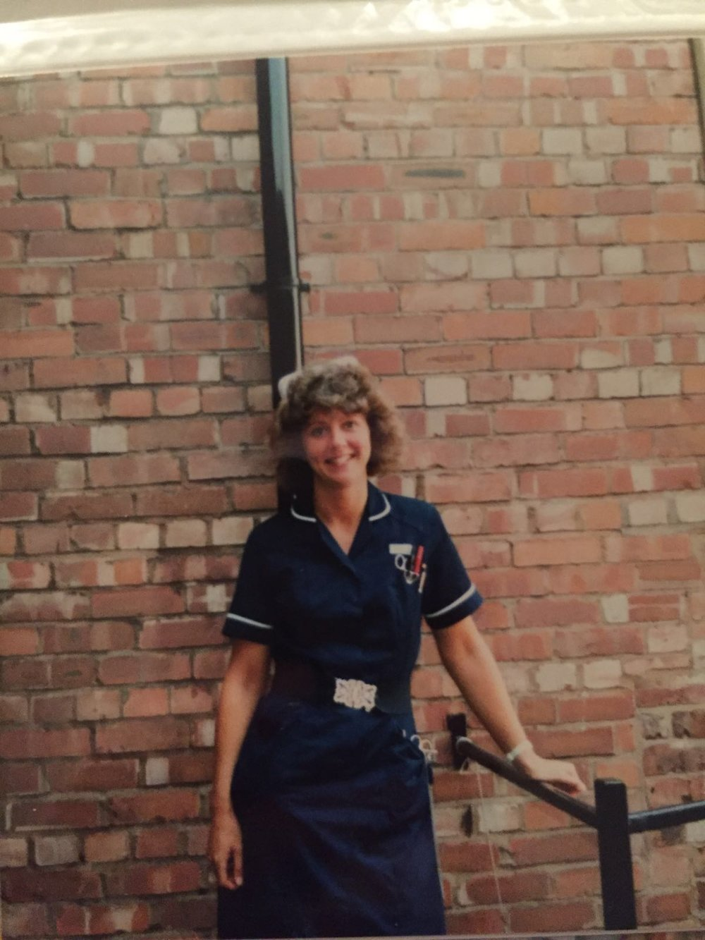 Nat's mum as a young nurse