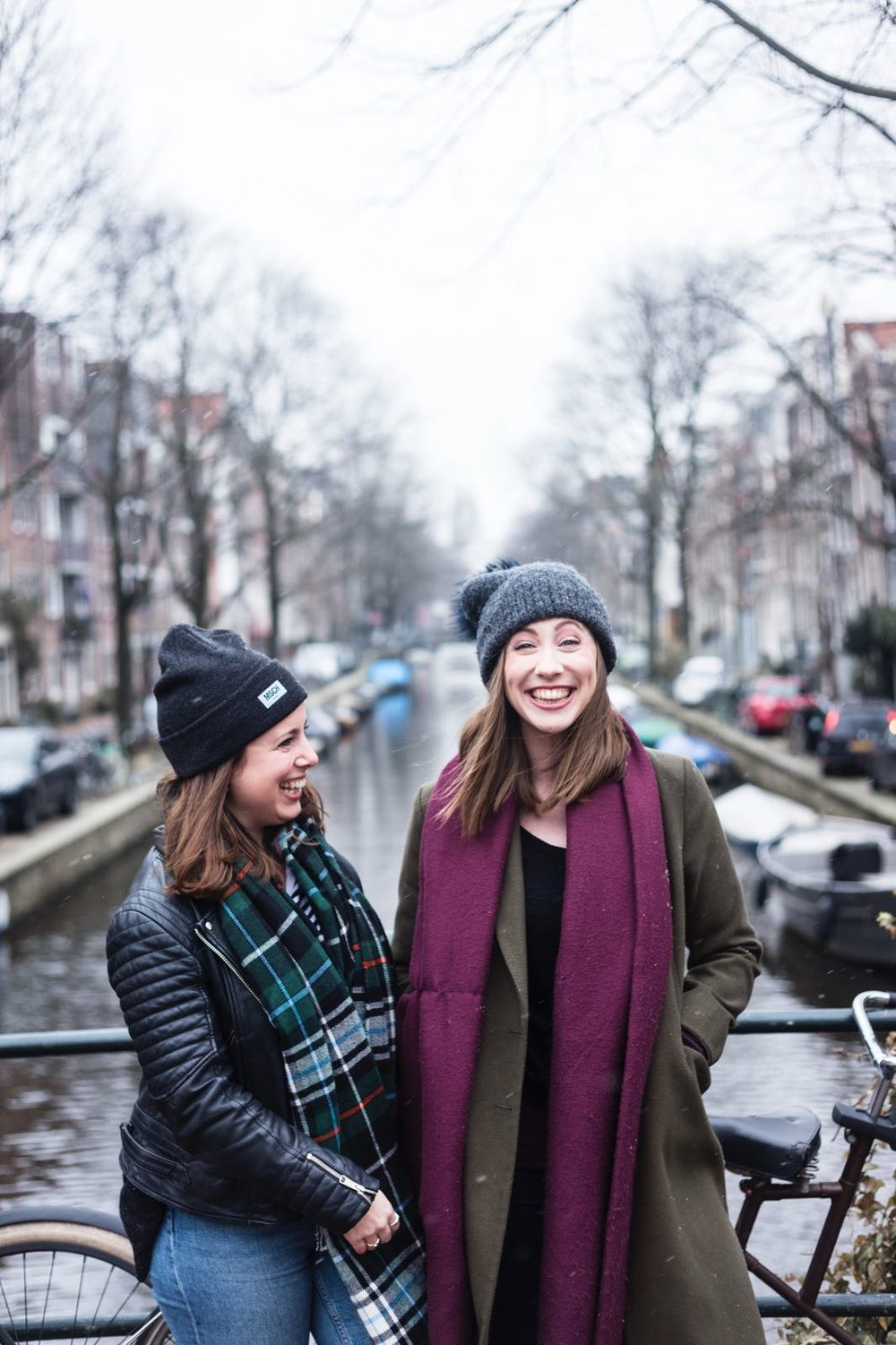 Jess (Mac) and Nat (Moore) in Amsterdam