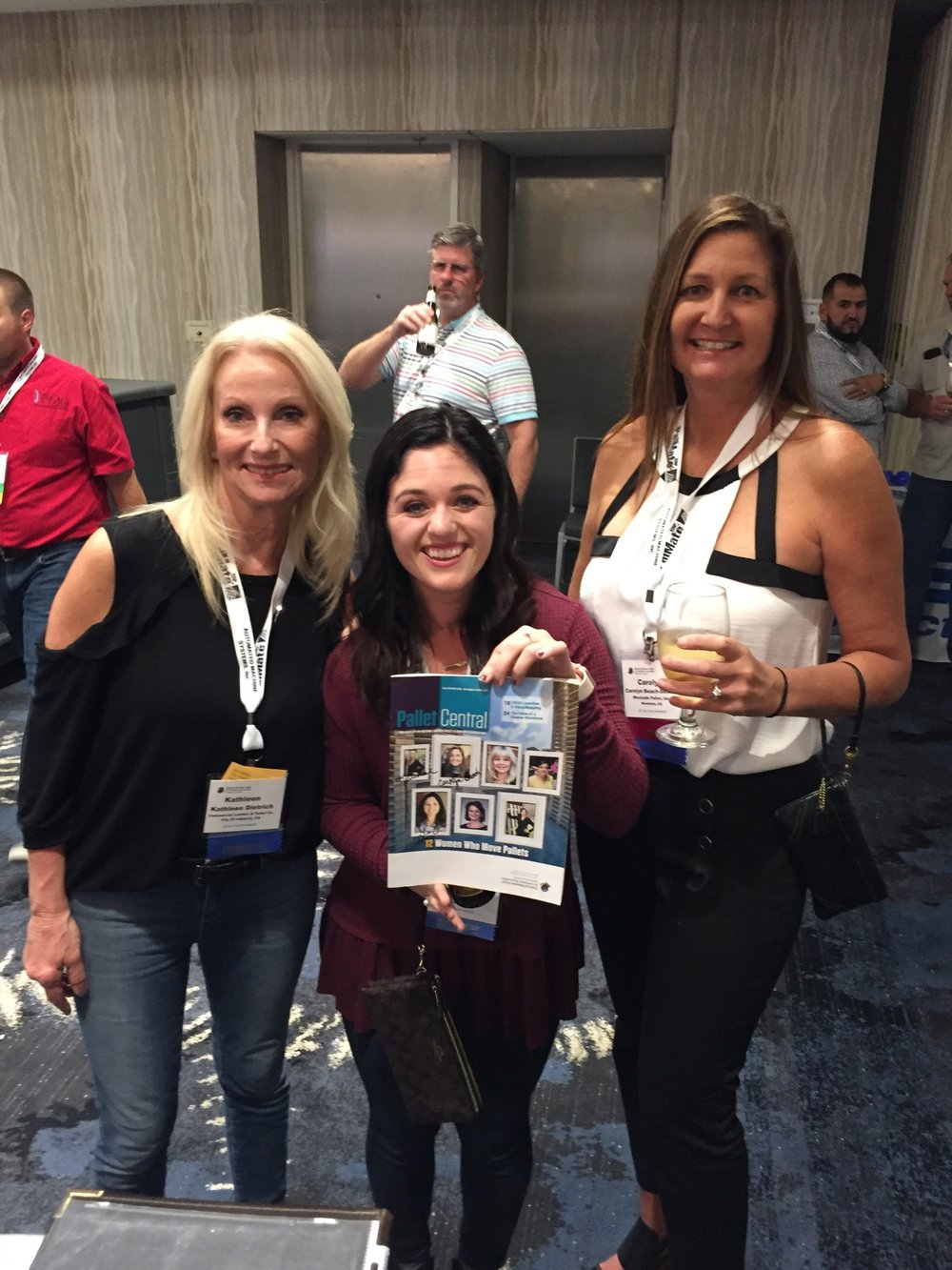 L to R: Kathleen Dietrich of Commercial Lumber/Priority Pallet, Lindsey Shean, Carolyn Beach-Skinner of Westside Pallet