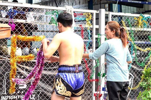 Holiday decorating is underway at FA Group Muay Thai 🎉😂 #happyholidays #fightcamp #muaythailife #muaythai #fagroupmuaythai