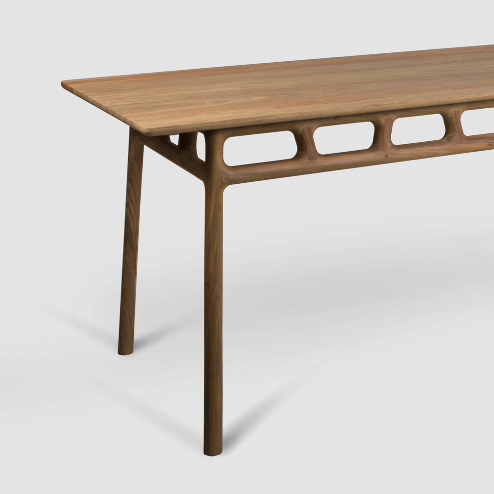 Joburg Table 2 Range David Krynauw ontwerp design solid wood dining study unique hout tafel kiaat