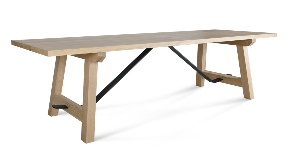 Steel Trestle Table