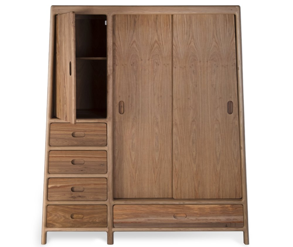 Joburg Hangkas Cupboard Kas Cabinet Dresser Drawers Solid wood design ontwerp David Krynauw cabinetry Oak Kiaat