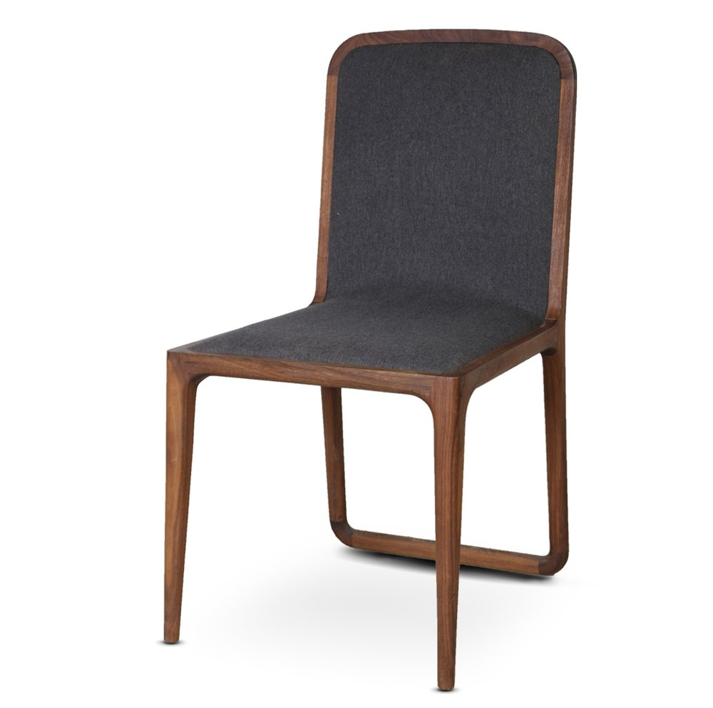 solid wood hout Brandberg Dining Chair stoel elegant simple design David Krynauw ontwerp felt modern
