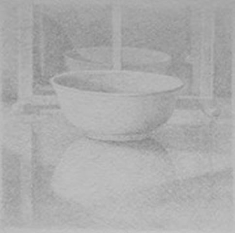 Jeffrey Lewis - Bowl & House, 2010, silverpoint on prepared paper, 18 in x 18 framed