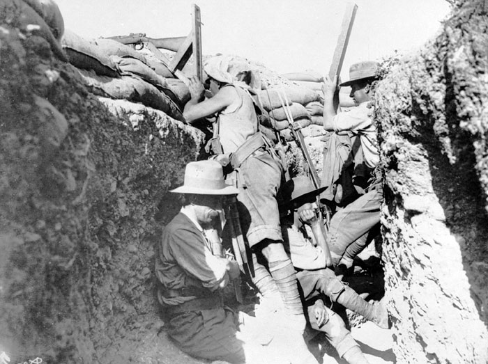 In the Trenches. Gallipoli, May 1915