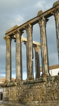 Evora Roman Temple, photograph Jeannine Cook