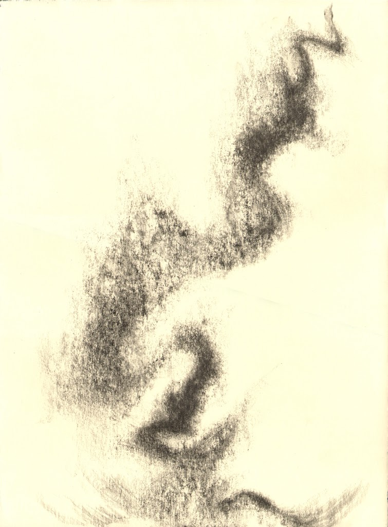 "Caylus, 14th July,  graphite, 15 x 11"" artist Jeannine Cook"