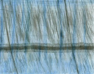 """Evoramonte Shadows,  silverpoint/watercolour, 12 x 9"""", artist Jeannine Cook"""