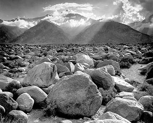 Mount Williamson, Sierra Nevada, from Marzanar, CA , 1944 (Image courtesy of  MOMA)