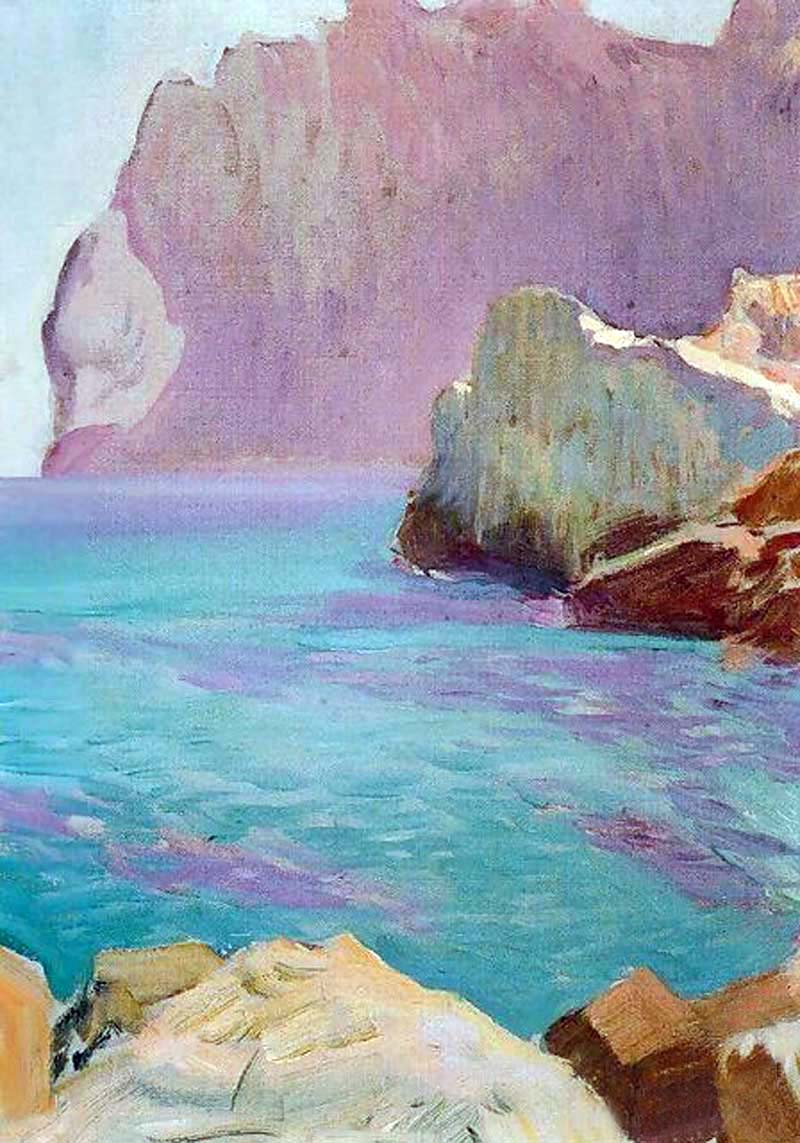 Esmeraldas de la Cala San Vicente, 1919, oil on canvas, Joaquín Sorolla (Image courtesy of Museo Sorolla)