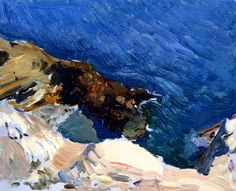 Sea at Ibiza (study for Smugglers), 1919, oil on canvas, Joaquín orolla (Image courtesy of Museo Sorolla)