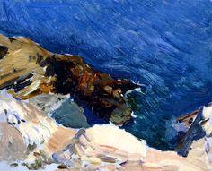 Sea at Ibiza (study for Smugglers), 1919, oil on canvas, Joaquín Sorolla (Image courtesy of Museo Sorolla)