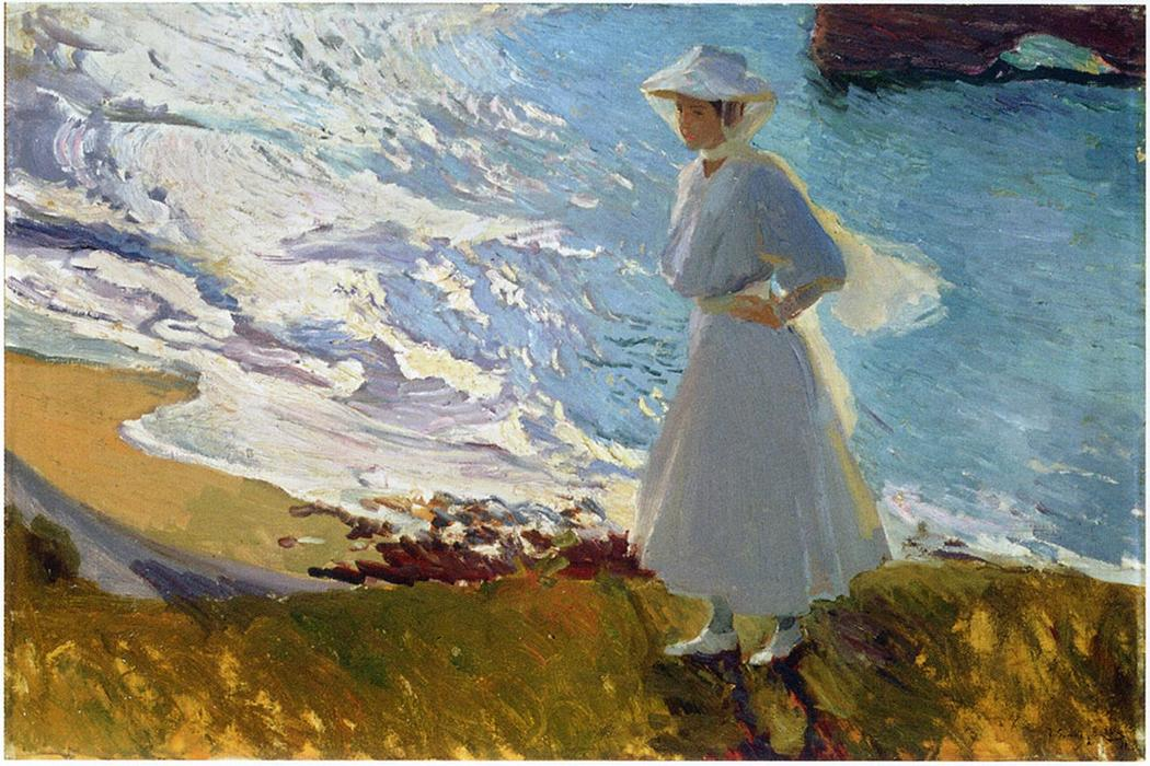 Marie on the Beach,  (Biarritz), 1906, oil on canvas, JoaSwimmers (Javea), oil on canvas, 1905, Joaquín Sorolla (Image courtesy of Museo Sorolla)     Swimmers (Javea), oil on canvas, 1905, Joaquín Sorolla (Image courtesy of Museo Sorolla)